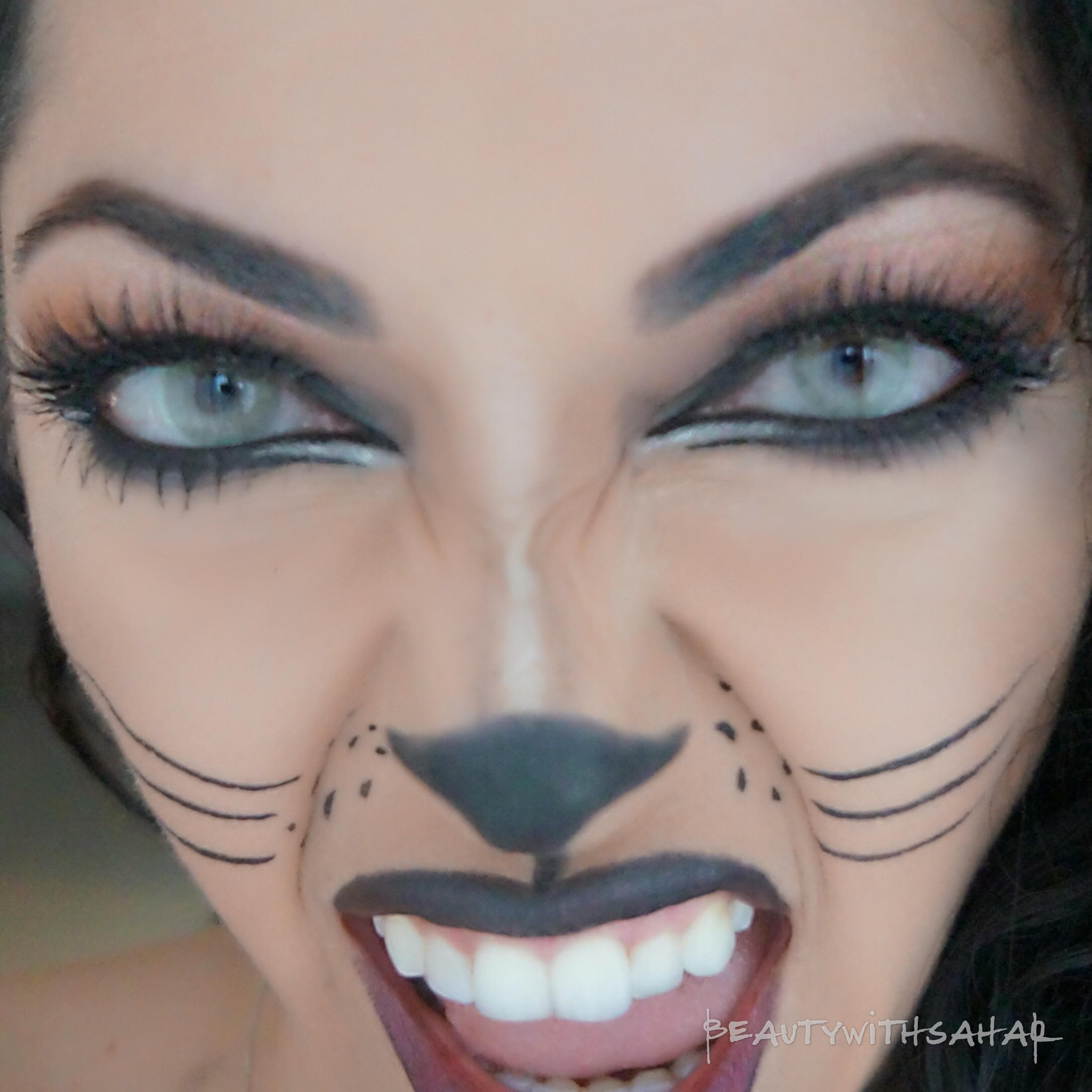 Kitty Cat Halloween Make-up! | beautywithsahar